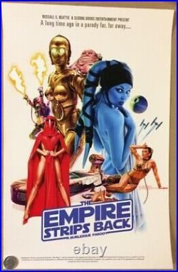 18 Star Wars Empire Strips Back Burlesque Parody Movie Poster Ltd Ed Fox Wiltern