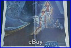 1977 Original 27 x 41 Star Wars A New Hope One Sheet Style A Movie Poster 77/21