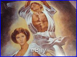 1977 STAR WARS Fan Club Movie PosterExcellent ConditionNever Displayed