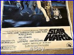 1977 Star Wars A New Hope Movie Poster PTW 531 Litho Carrie Fisher Harrison Ford