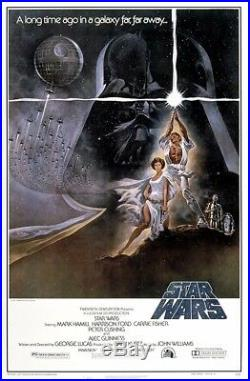 1977 Star Wars Original Movie Poster Style A 21x47