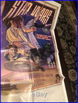 % 1978 STAR WARS STYLE D 770021 ORIGINAL MOVIE POSTER 41X27 Never Hung E Mint