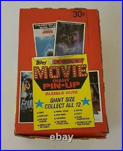 1980 Giant Movie Pin Up Posters Full Box Topps Star Wars Frankenstein Jaws Ect