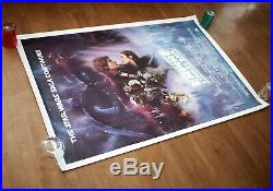 1980 Original Star Wars Empire Strikes Back One Sheet Rolled Movie Poster ESB 1