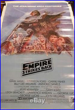 1980 Star Wars Empire Strikes Back original, authentic 1 one sheet movie poster