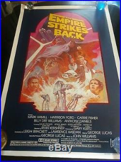 1982 Star Wars Episode V The Empire Strikes Back Rolled Original Movie Poster