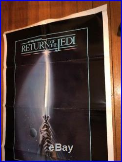 1983 Star Wars Return Of The Jedi 1sh Original Movie Poster Style A Light Saber