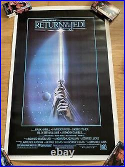 1983 Star Wars Return Of The Jedi Original Movie Poster Rolled