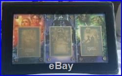 1997 Star Wars 3 TRILOGY Movie Posters 24K Metal MATCHED 3-CARD SET LE #4/1997