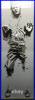 2015 Han Solo Carbonite Star Wars Jedi Movie Poster Rogue One Drake X/125 Mondo