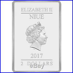 2017 Niue Star Wars Empire Strikes Back Movie Poster 1 oz. 999 Silver Bar Coin