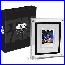 2017 Niue Star Wars Return of the Jedi Movie Poster 1 oz. 999 Silver Bar Coin
