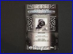2018 Topps Star Wars Galactic Files Darth Vader Movie Poster Patch #1/1 NMMT