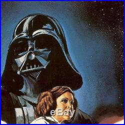 26Wx38H STAR WARS THE MOVIE POSTER SCI FI DARTH VADER CANVAS