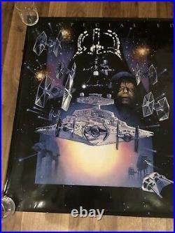3 Star Wars Trilogy Poster The Empire Strikes Back & Jedi UK Quad Original one
