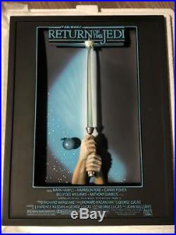 3D Star Wars Movie Poster Return of The Jedi Lightsaber