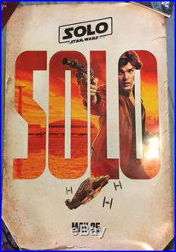 6 Star Wars SOLO US DS 27x40 Movie poster Cast Han Lando Chewie Qi'Ra Final