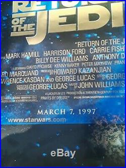 8 SIGNATURES Return Of The Jedi CAST SIGNED AUTOGRAPHED MOVIE POSTER STAR WARS
