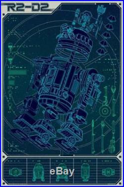 A Linch Pin Droid by Kevin Tong R2D2 Star Wars Mondo Movie Poster Disney Lucas