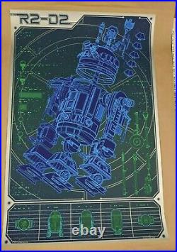A Linchpin Droid R2-D2 Star wars schematic Movie poster Mondo kevin tong