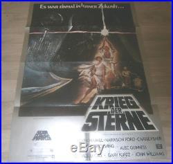 A1 Filmplakat STAR WARS KRIEG DER STERNE Mark Hamill, Harrison Ford EA 1977