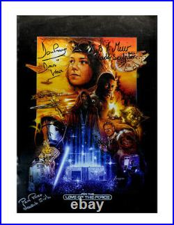 A3 For the Love of the Force 2015 Poster Signed by 3 Guests 100% Authentic + COA