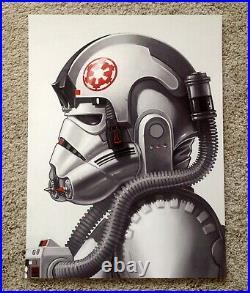 AT-AT Driver Mike Mitchell Star Wars Portrait Art Print Poster Mondo