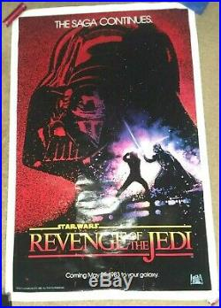 AUTHENTIC Star Wars REVENGE OF THE JEDI Movie Poster One Sheet ROLLED 1982 NEW