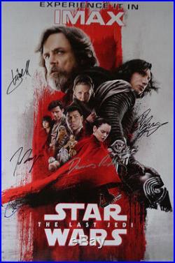 AUTOGRAPHED'Star Wars The Last Jedi' IMAX Movie Poster + COA
