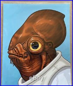 Admiral Ackbar Mike Mitchell Star Wars Mondo Poster