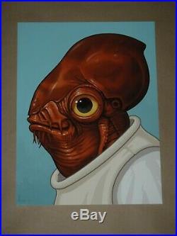Admiral Ackbar Mike Mitchell Star Wars movie poster art print Mondo Mondotees
