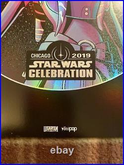 Ahsoka Tano Celebration Chicago 19 VIP Badge Art Print Star Wars 8x10 Exclusive