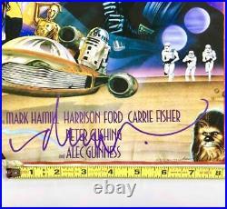 Artist Drew Struzan signed Star Wars movie poster 11x17 print DS authentic holo