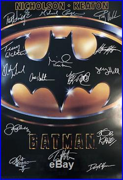 BATMAN MOVIE POSTER Signed by 15 withCOA! Star Wars