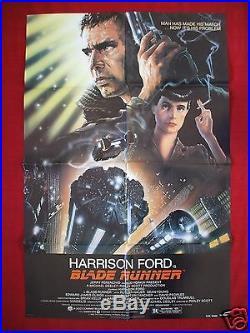 Blade Runner 1982 Original Movie Poster Star Wars' Harrison Ford Nss Issue Nm-m