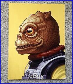 Bossk Mike Mitchell Star Wars Portrait Art Print Poster Mondo