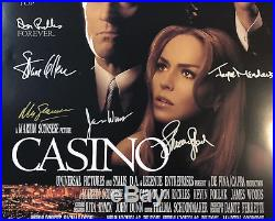 CASINO MOVIE POSTER Signed by 13 withCOA! Star Wars