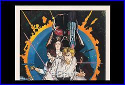 CORONA PANICSCARE 1976 HOWARD CHAYKIN 1st STAR WARS Movie Poster FIRESALE