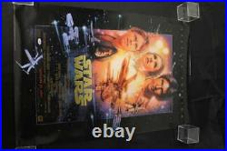 Carrie Fisher Signed Star Wars 24x36 Poster Autograph 1997 Psa/dna Coa Jb2156