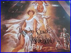 Carrie Fisher signed Star Wars movie poster coa + Proof! Personalized autograph
