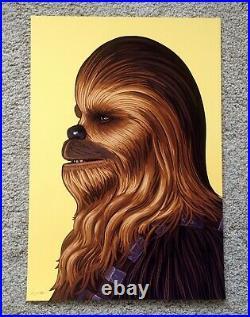 Chewbacca Chewy Mike Mitchell Star Wars Portrait Art Print Poster Mondo