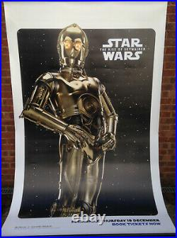 Cinema Banner STAR WARS THE RISE OF SKYWALKER 2019 (C-3P0) Anthony Daniels