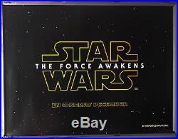 Cinema Poster STAR WARS EPISODE VII THE FORCE AWAKENS 2015 ('December' Quad)