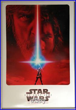 Cinema Poster STAR WARS THE LAST JEDI 2017 (2nd Advance One Sheet) Mark Hamill