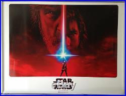 Cinema Poster STAR WARS THE LAST JEDI 2017 (2nd Advance Quad) Mark Hamill