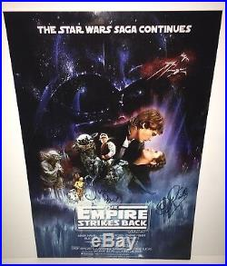 Clive Revill Julian Glover Signed Star Wars The Empire Strikes Back Poster Proof