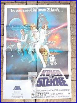 DIN A 1 original 1977 STAR WARS vintage Movie POSTER Kino Krieg der Sterne Kino