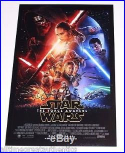 DIRECTOR JJ ABRAMS SIGNED STAR WARS THE FORCE AWAKENS MOVIE POSTER WithCOA J. J