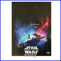 Daisy Ridley, Adam Driver & Ian McDiarmid Signed Star Wars Poster
