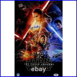 Daisy Ridley Signed Star Wars VII The Force Awakens 10x16 Movie Poster